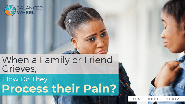 Two african woman friends with sad faces in jeans jacket posed indoor together | How Do Friends Grieve the Loss of Their Loved Ones | Balanced Wheel