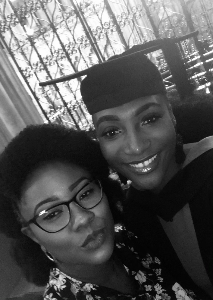Picture of Chidinma Olajide and Grace Olajide smiling and posing, Grace's graduation ceremony | Grief and Good News | Balanced Wheel