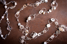 Silver pebble necklaces