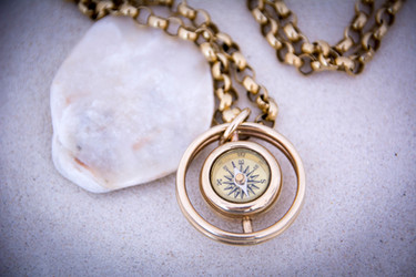 Gimblet compass pendant