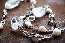 Crystal-kelp necklace