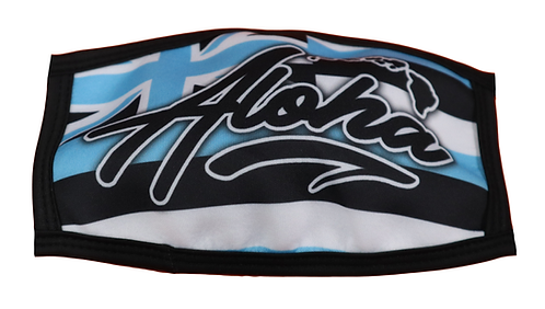 "Delight face mask ""Aloha"" Hawaiian Flag Blue"