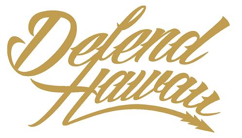 Defend Hawaii Script Gold