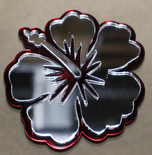 Island Silver Hibiscus Red