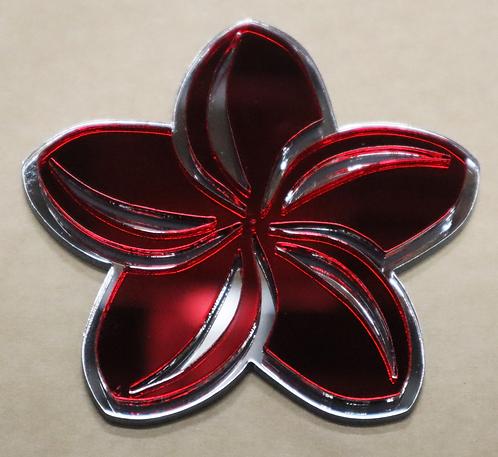 Island Silver Plumeria Red