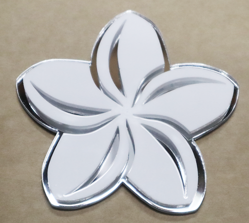 Island Silver Plumeria White