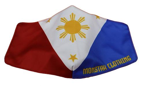 "Monstah face mask ""Filipino Flag"""