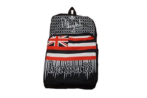 Delight Backpack Hawaiian Flag Black, Red, and White