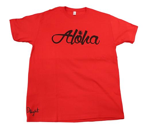 "Delight ""Aloha Script"" Red"