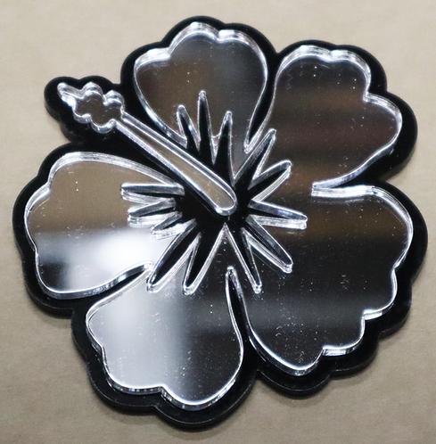 Island Silver Hibiscus Black