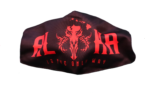"Monstah face mask ""Aloha Skull"" Red"