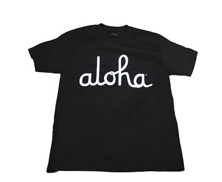 """Aloha Army """"Aloha Script"""" Black"""