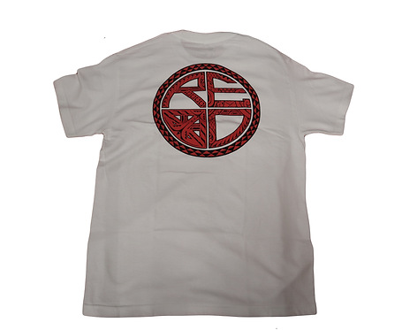 "Red Label ""Tribal Logo"" White"
