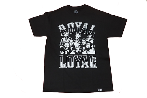 "Hawaii's Finest ""Royal and Loyal"" Logo Print Blk/Wht"
