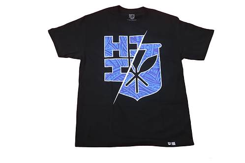 "Hawaii's Finest ""Split"" Logo Print Blue"