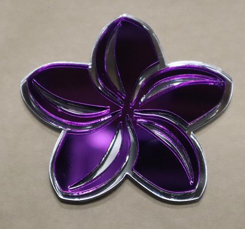 Island Silver Plumeria Purple