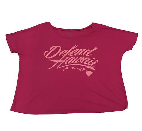 """Defend Hawaii Women's """"Defend Hawaii"""" Magenta"""