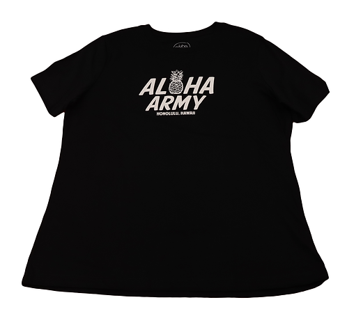 """Aloha Army Women's """"Honolulu Hawaii"""" Black"""