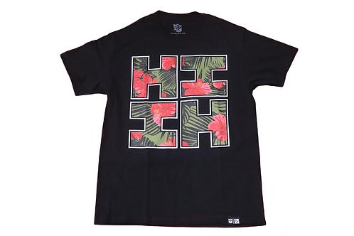 "Hawaii's Finest ""Floral Hibiscus"" Logo Print Black"