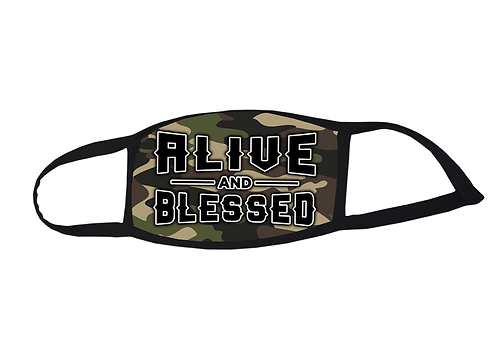 "Delight face mask ""Alive and Blessed"" Camo"