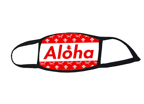 "Delight face mask ""Aloha"" Red"
