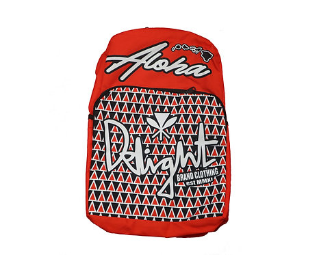 Delight Backpack Aloha and Islands Red