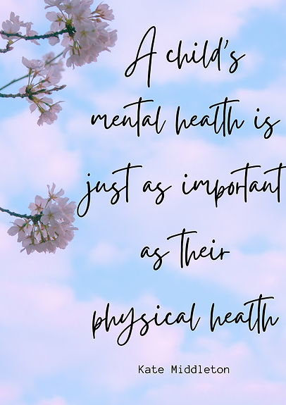 A child's mental health is just as impor