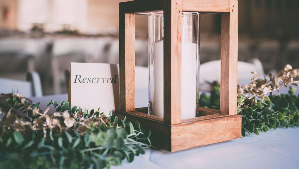 Lantern, greenery, wedding, decor