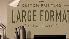 Let your print artistry impress on a grand scale. Whether you're framing your stellar art, creating a foam-core board presentation, or need a roll-up banner - choose from a wide variety of materials and finishes to meet your large print work needs.