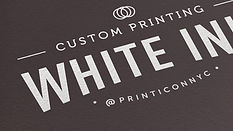 Sophisticated and stylish, yet versatile, white ink printing creates a stunning impression at first sight. Whether you go with elegant black, rustic Kraft, or chose from bright colored stock - your print work will truly stand out.