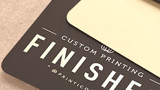 Choose from our extensive finishes selection and make your printed pieces even more special. Round corners, scoring, and folding, hole punching, perforation, edge gilding, and so much more, right in the midst of Manhattan.