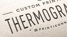 """Excellent alternative to engraving. Your print work will stand out, sending that """"come hither look"""" without breaking the bank. Sophisticated and stylish, it fits right into the New York scene."""