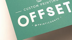 To satisfy any corporate clients' needs, offset provides excellent quality and color consistency across the spectrum of high-volume business collateral.