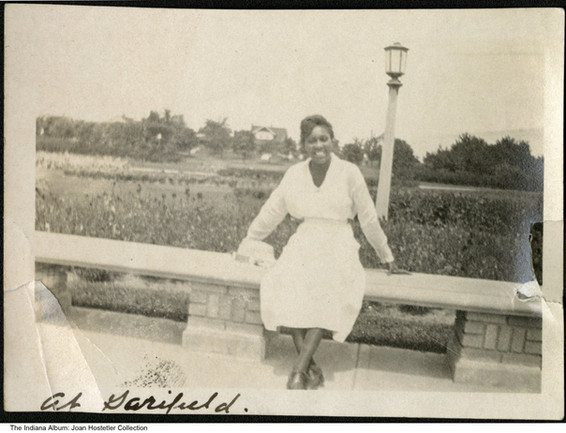 Portrait of a young woman at Garfield Park, Indianapolis, Indiana, circa 1940