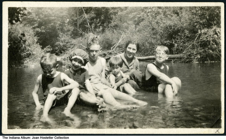 George and Mabel Griffin family at Eagle Creek, Indianapolis, Indiana, 1923