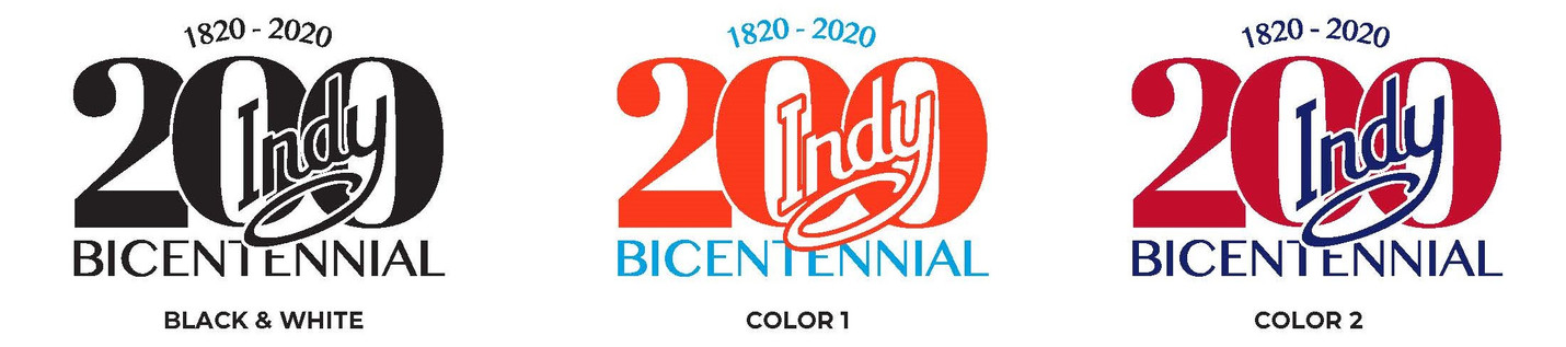 Indianapolis Bicentennial Logo Options