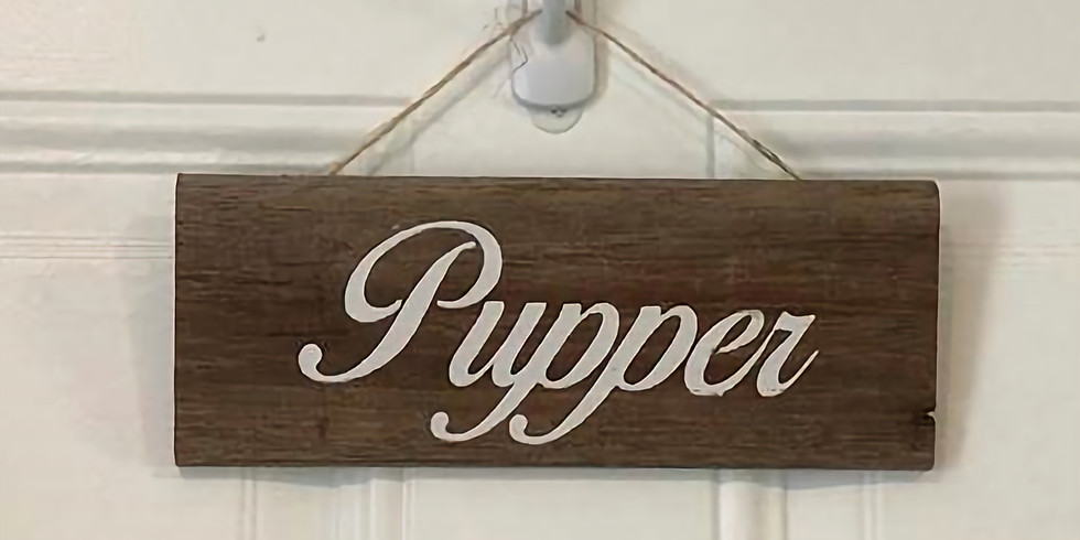 Painted Name Plaque - Holiday Pet Series
