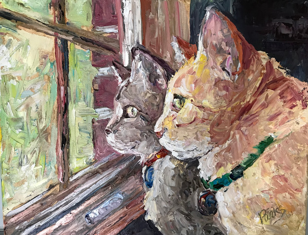 Yellow Tabby in Window