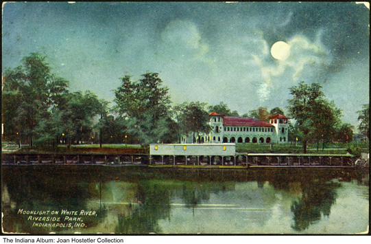 Riverside Park on the White River, Indianapolis, Indiana, circa 1909