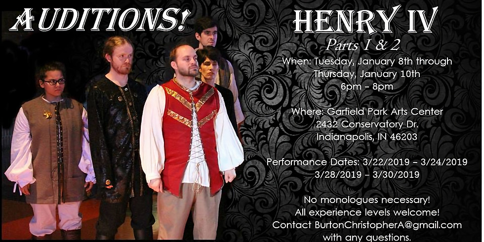 Auditions! GSC presents Henry IV