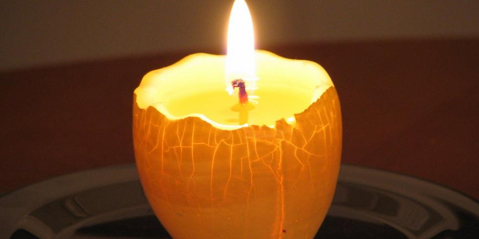 Family Art Night: Egg Candles - FULL