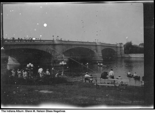 Day on the White River at Riverside Park, Indianapolis, Indiana, circa 1915