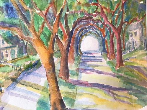"""Take Me Home"" / Original Watercolor / Wilmington NC"
