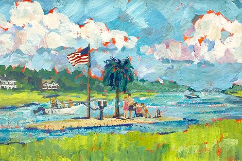 "Palm Tree Island / 5""x7""/ Framed Print"