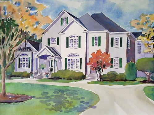 """12""""x16"""" Personalized Home Portrait /Original / Custom Artwork"""