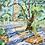"Thumbnail: Sneak Peek of Old Baldy / 16""x20"" Framed Original Watercolor on Canvas"