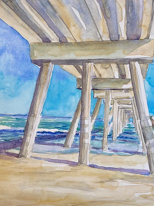 "Mercer's Majesty / 12""x12""/ Framed / Original Watercolor on Canvas"