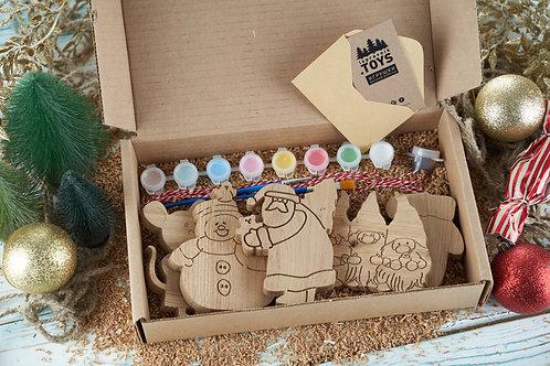 Творческий новогодний набор (5 разных игрушек)