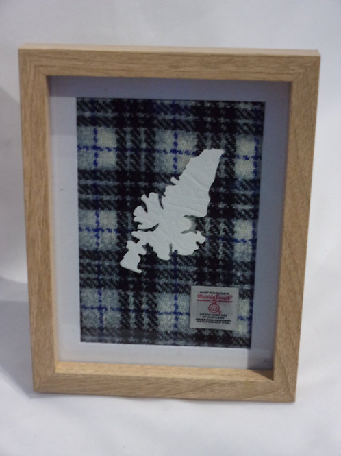 Harris Tweed Map Frame