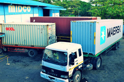Container Parking at Premises